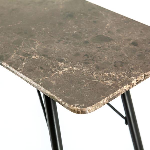 Consola din marmura Richy 120x36x76 cm maro