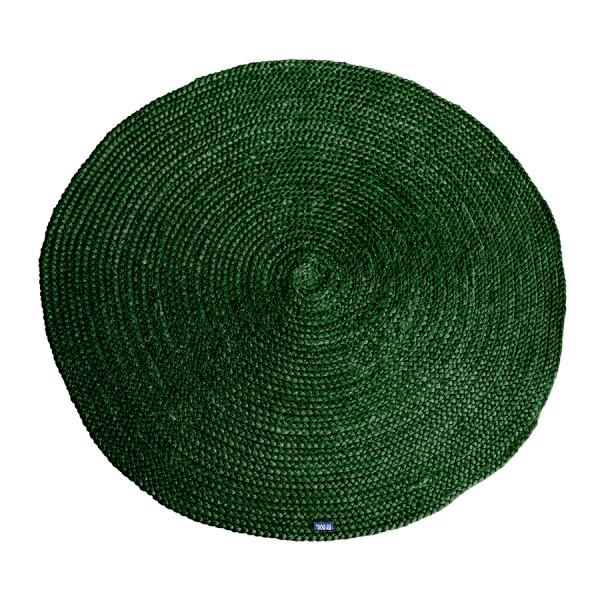 Covor Jute rotund 220x220 cm - green