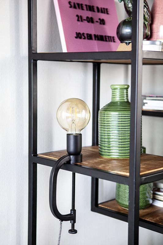 Lampa de birou din aluminiu Klamp neagra