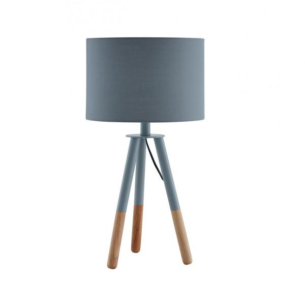 Lampa de birou din lemn/tesatura 55 cm gri