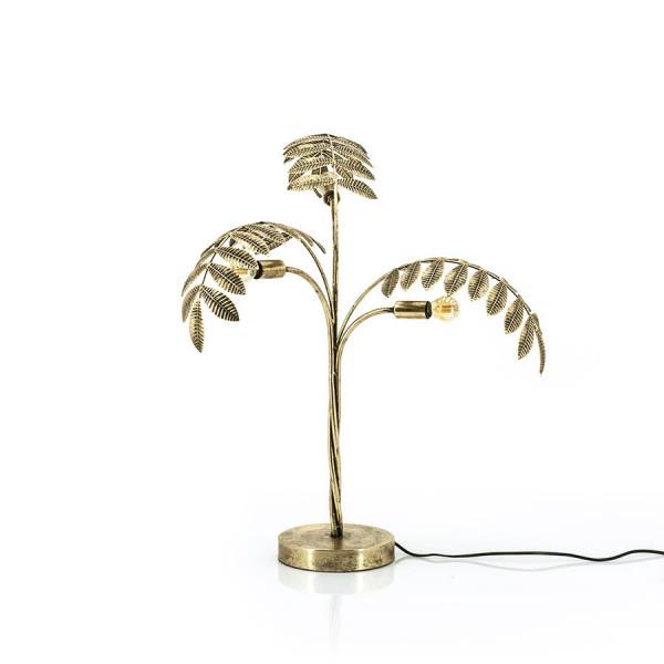 Lampa decorativa Frunze din metal Unbeleafable aurie, un bec
