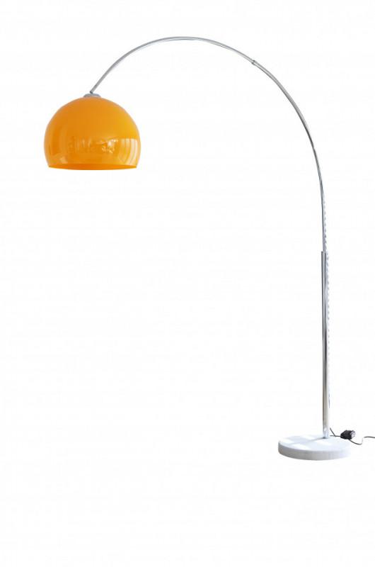 Lampadar din metal/marmura/plastic THIS & THAT 208 cm, metal orange , un bec