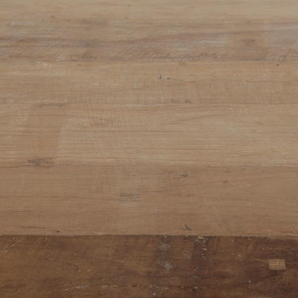 Masa dreptunghiulara din lemn de tec reciclat Java 200x100x76 cm maro/negru