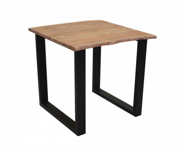 Masa patrata cu blat din lemn de salcam Tables&Benches 80x80x76 cm maro deschis/maro inchis