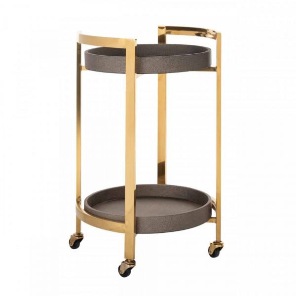 Masuta/Carucior pentru servire din inox Calesta, 72x45x41 cm, gold