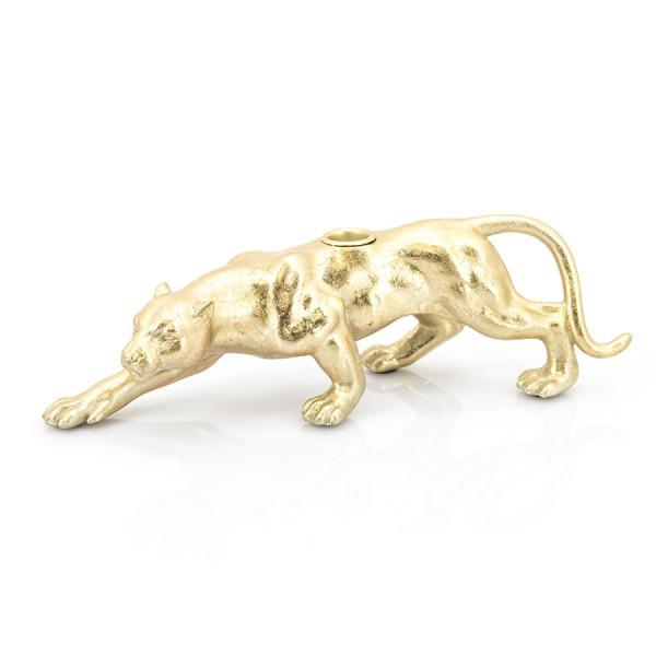 Suport lumanare pantera Raja, gold
