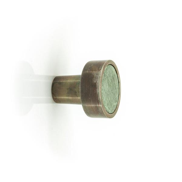 Cuier din marmura si aluminiu Benjamin large- verde