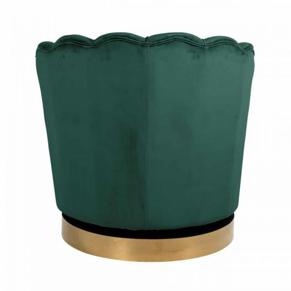 Fotoliu rotativ tapitat Mila verde