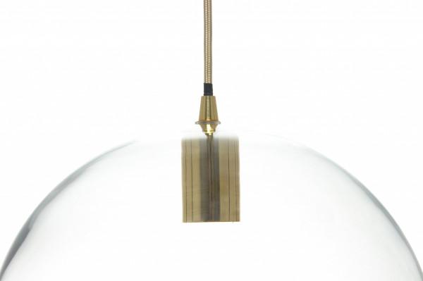 Lustra din sticla Heike transparenta, un bec