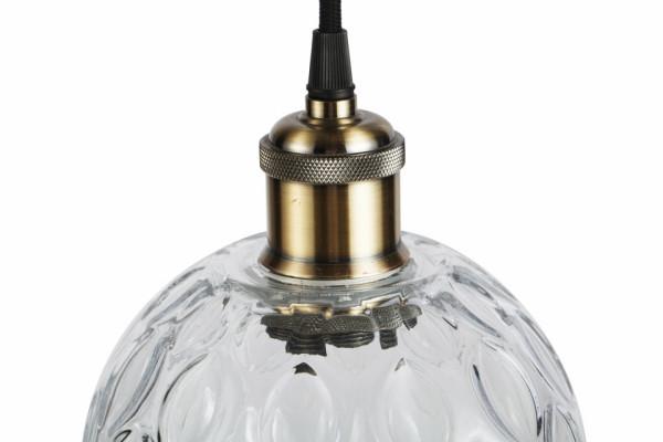 Lustra din sticla Mono transparenta, un bec