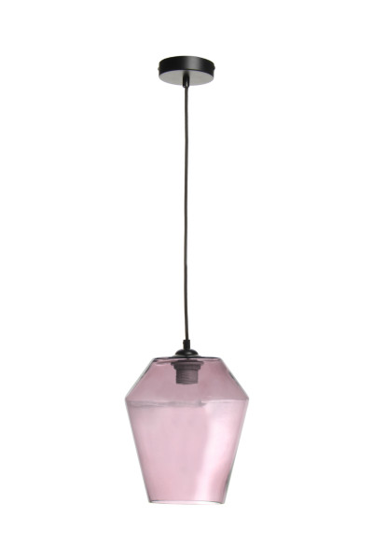 Lustra din sticla Planta roz, un bec