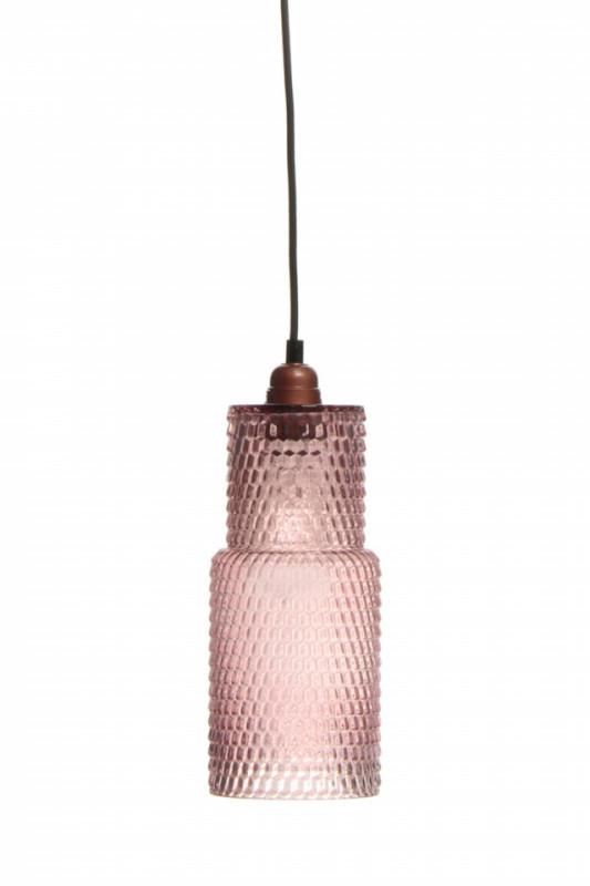 Lustra din sticla Rosi roz, un bec