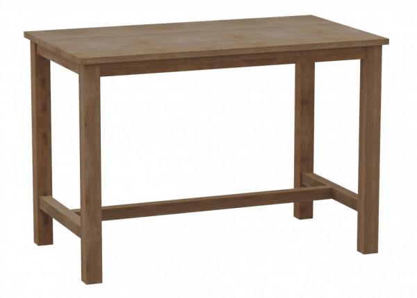 Masa de bar dreptunghiulara din lemn 140x90x110 cm maro