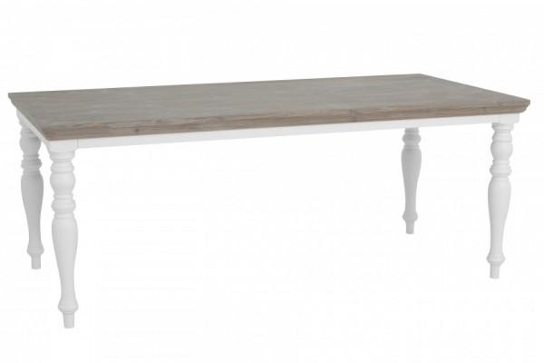 Masa dreptunghiulara din lemn de pin 160x90x78 cm maro/alb