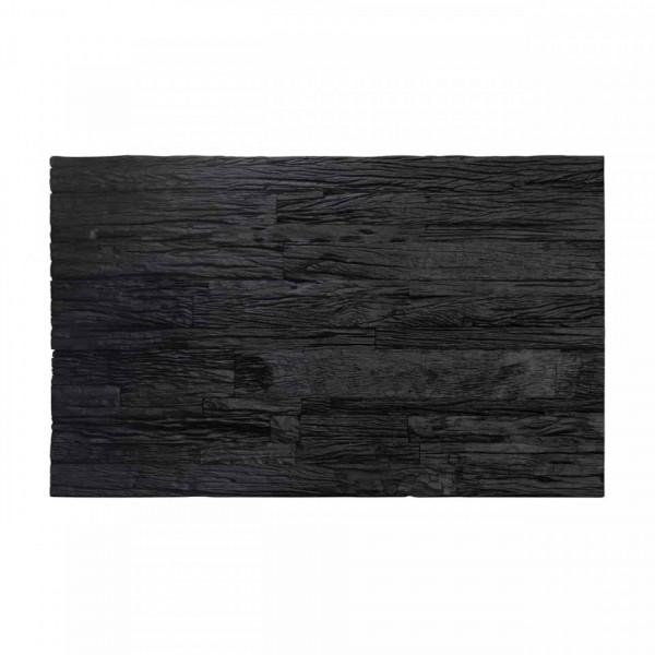 Masuta de cafea dreptunghiulara din lemn Vendme 46x130x80 cm neagra