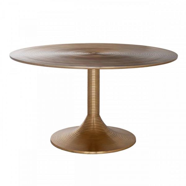 Masuta de cafea rotunda din aluminiu Dexter 41x77x77 cm aurie