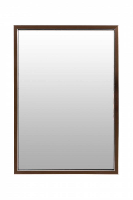 Oglinda dreptunghiulara cu rama din polistiren bronz/neagra Cliff, 68cm (L) x 48cm (L) x 1.6cm (H)
