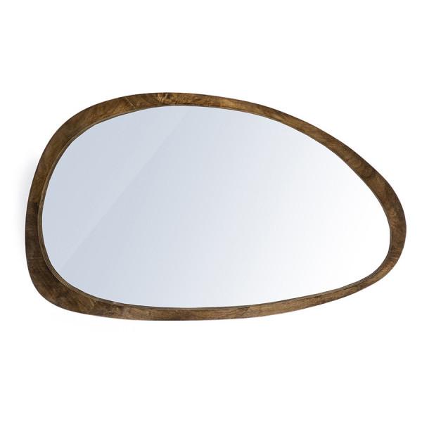 Oglinda ovala cu rama maro Plecto, 120 x 5 x 70 cm