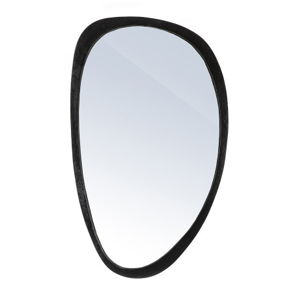 Oglinda ovala cu rama neagra Plecto, 120 x 5 x 70 cm
