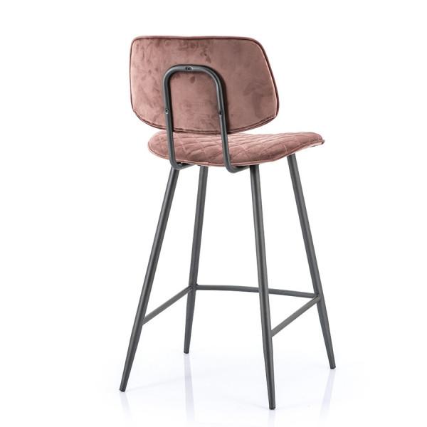 Scaun de bar din piele artificiala Kimberly roz