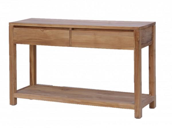 Comoda din lemn cu 2 sertare 130x38x75 cm maro