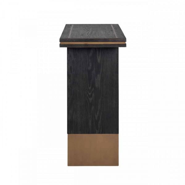 Consola din lemn de stejar Hunter 150x40 cm