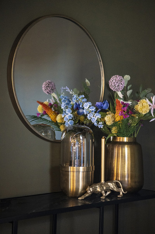 Lampa decorativa din fier/sticla Maverick bronze, un bec