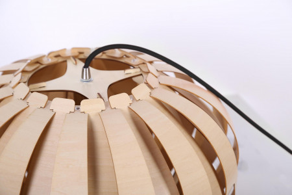 Lustra din lemn Albiro bej, un bec