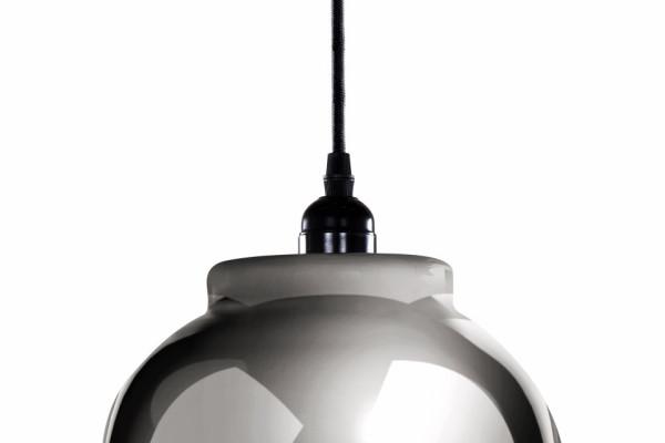 Lustra din sticla Sombra gri/neagra, un bec