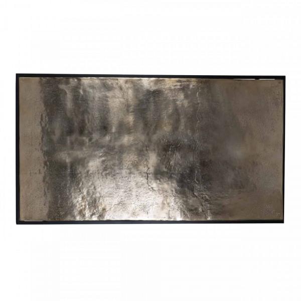Masuta de cafea dreptunghiulara din metal Calloway 47,5x123x68 cm aurie