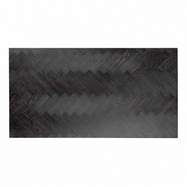 Masuta de cafea dreptunghiulara din otel si stejar Blackbone 41x150x80 cm negru/argintiu