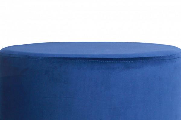 Taburet tapițat Mio albastru inchis