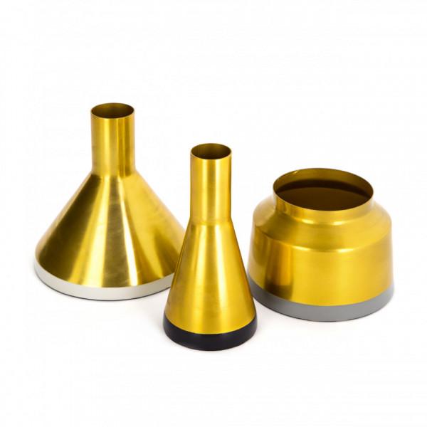 Vaze decorative Set 3 bucati Culture Auriu / Alb / Negru / Gri