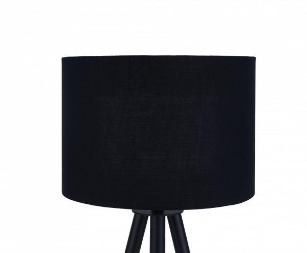 Lampadar din lemn/metal/tesatura THIS & THAT 154 cm negru, un bec