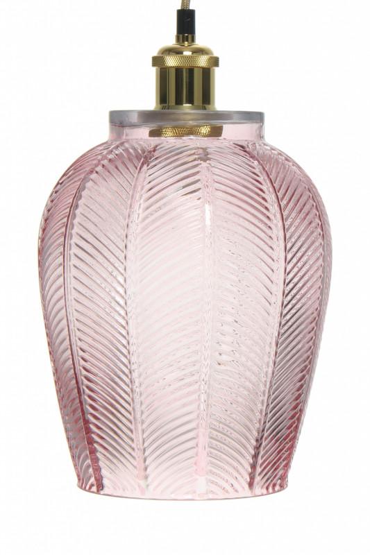 Lustra din sticla Bianca roz, un bec