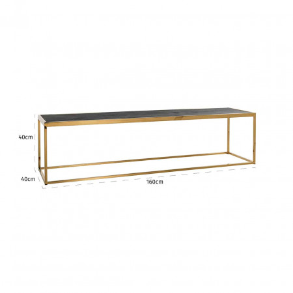 CONSOLA Blackbone gold 160x40