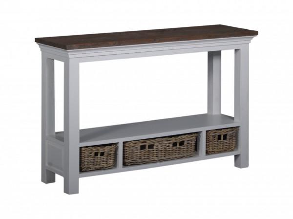 Consola din lemn cu spatiu de depozitare 120 cm