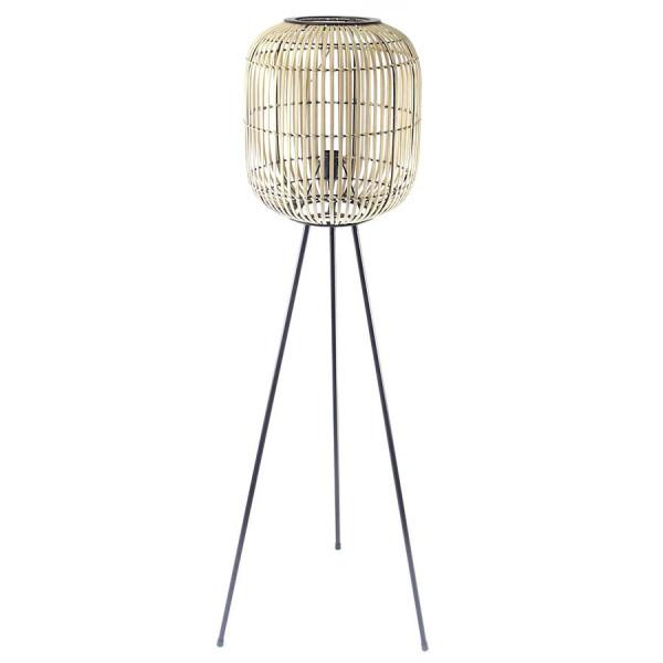 Lampadar din bambus Sunlight Large bej, un bec