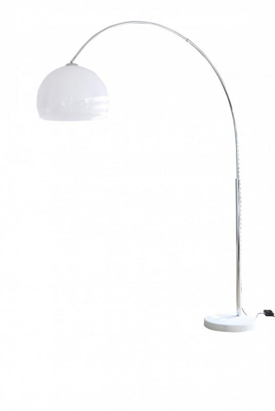 Lampadar din metal/marmura/plastic THIS & THAT 208 cm alb, un bec