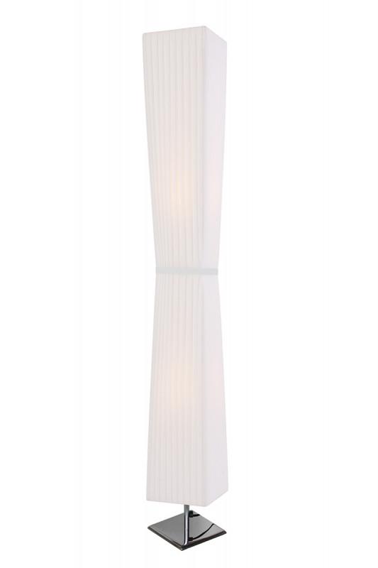 Lampadar din otel/latex 120 cm alb, 2 becuri