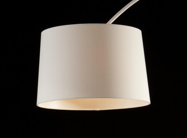 Lampadar din tesatura/metal/marmura THIS & THAT 205 cm alb, un bec