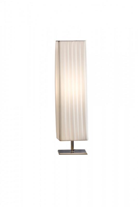 Lampadar patrat din latex/ metal cromat THIS & THAT alb, un bec