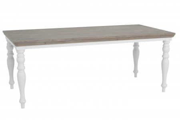 Masa dreptunghiulara din lemn de pin 180x90x78 cm maro/alb