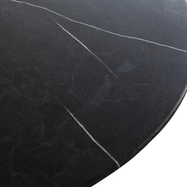Masa rotunda cu blat din marmrura Marble 137x137x76 cm neagra