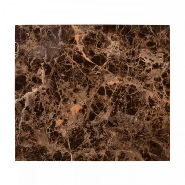 Masuta de cafea dreptunghiulara din marmură si metal Dalton 66x45x40 cm maro