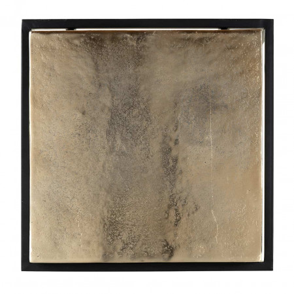 Masuta de cafea patrata din metal Calloway 61x42x42 cm aurie