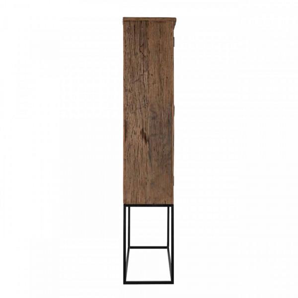Vitrina din lemn reciclat Raffles, 2 usi