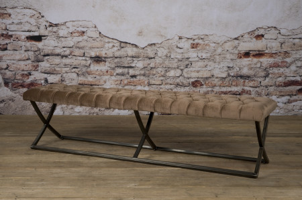 Bancheta Bolton din catifea/genova taupe