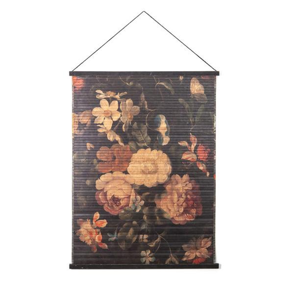 Decoratiune de perete din bambus Miyagi flowers large