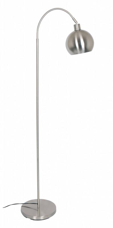 Lampadar din metal 153 cm argintiu, 1 bec